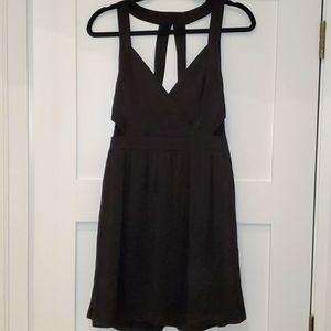Black BCBG cut-out cocktail dress